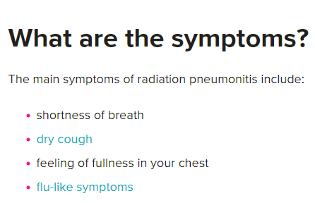 radiatin pneumonitis